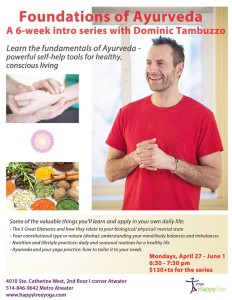 Foundations of Ayurveda course Montreal